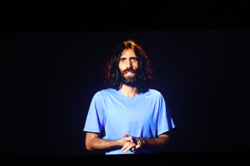 Behrouz Boochani journalist / writer / poet speaks during TEDxSydney at ICC Sydney on 24 May 2019. (Photo: Eric Fonacier by Visionair Media)