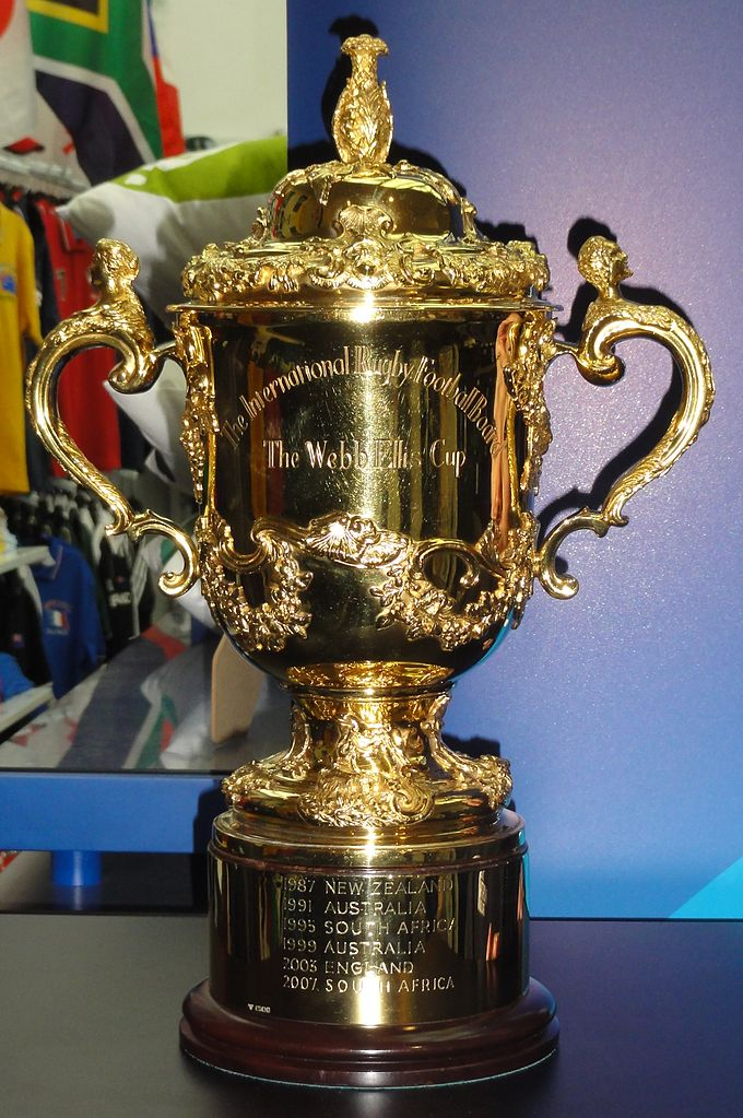 Webb Ellis Cup, the trophy awarded to the winner of the Rugby World Cup.