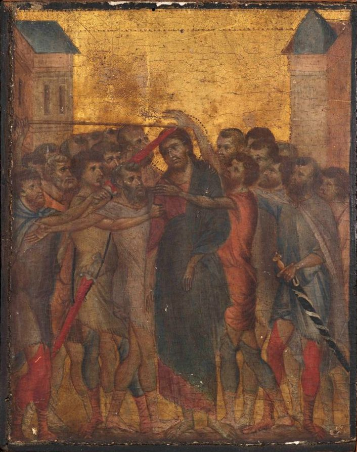 Christ Mocked by Cimabue, a painting found in a kitchen in northern France.