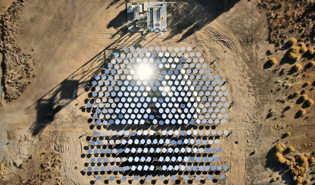 Heliogen's Concentrated Solar Power facility in Lancaster, California.