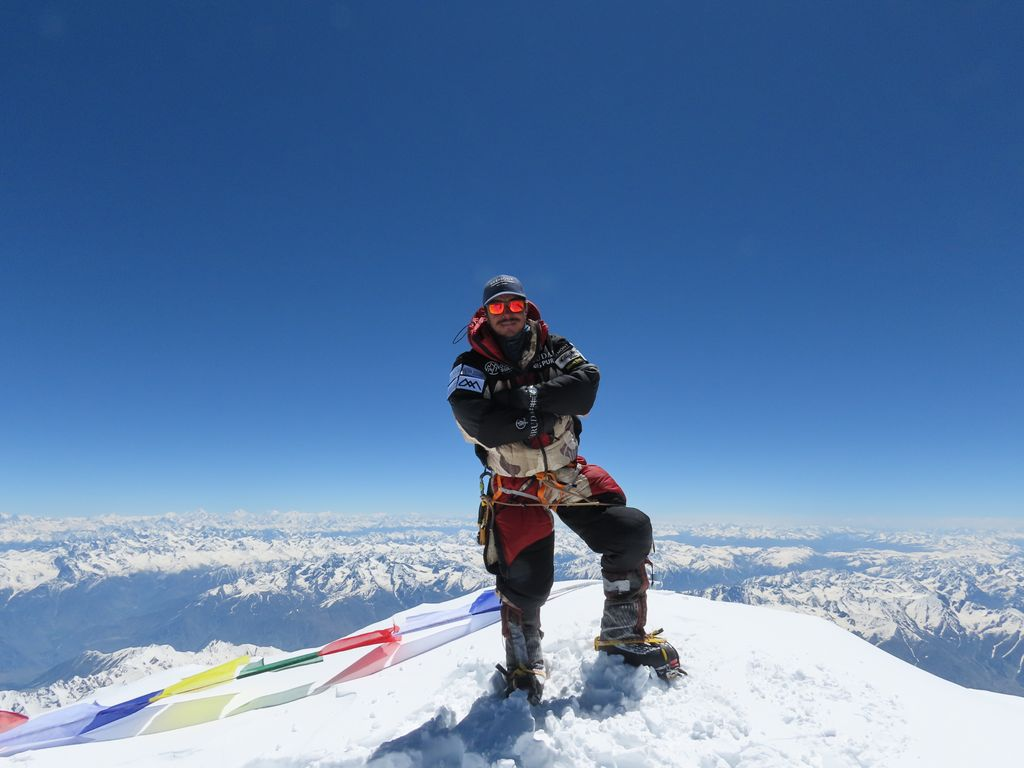 Nims Purja at the top of Nanga Parbat.