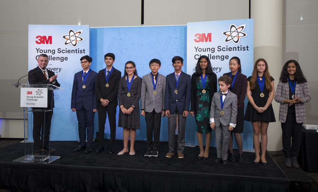Winners of the 2019 3M Young Scientist Challenge.