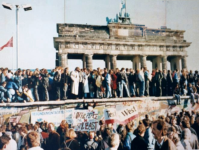 The Fall of the Berlin Wall, 1989.