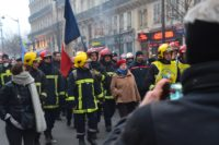 Strike to protect pensions, Paris, France, December 5, 2019.