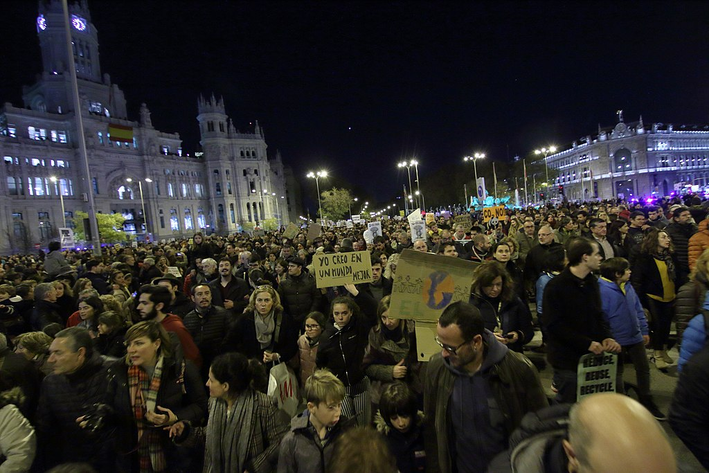 Climate Protest Madrid, December 6, 2019.