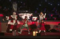 Mariah Carey sings All I Want For Christmas Is You in New York in 2013.