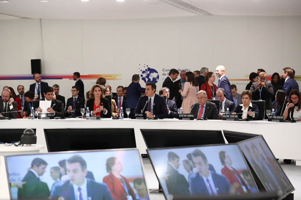 COP25: Pedro Sánchez speaks during a leaders' meeting on the first day of the COP25 (02/12/2019)