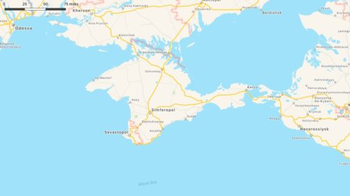 Apple's Crimea Map