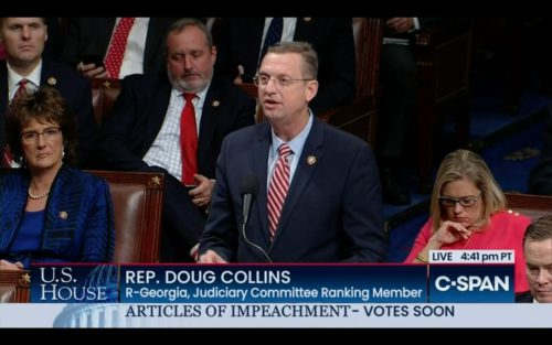 Doug Collins speaks before the vote on impeaching President Trump.