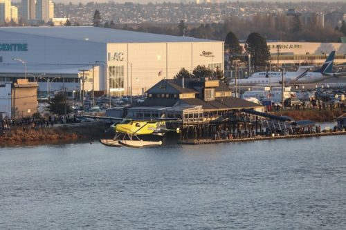 Harbour Air's ePlane in flight.