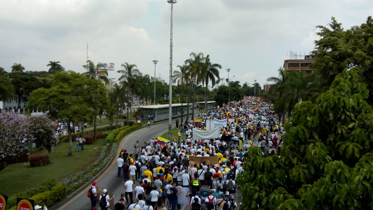 National Strike in Colombia, November, 2019.