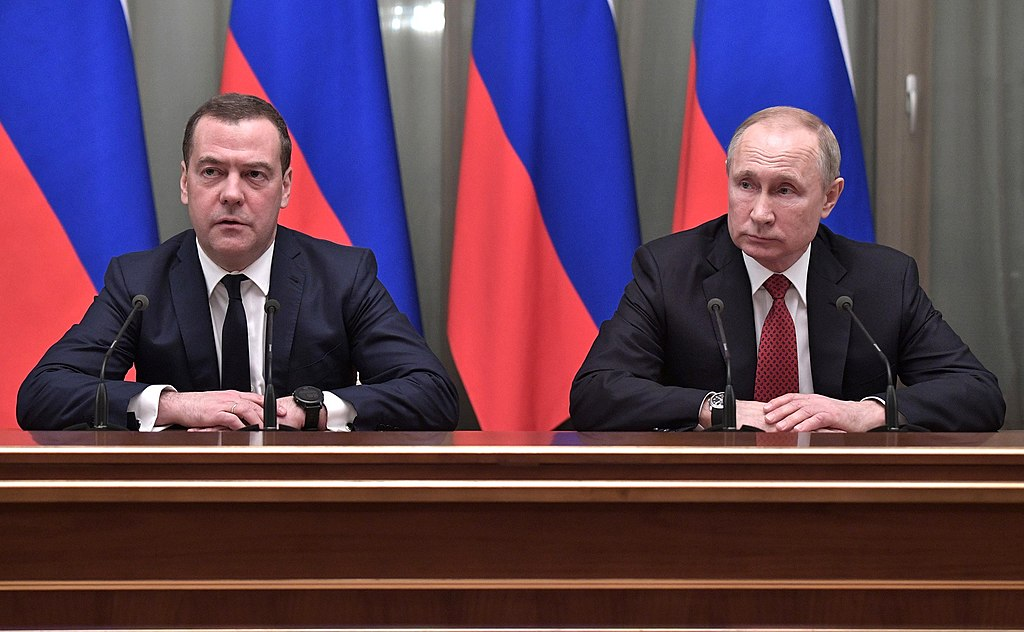 Medvedev and Putin 2020-01-15