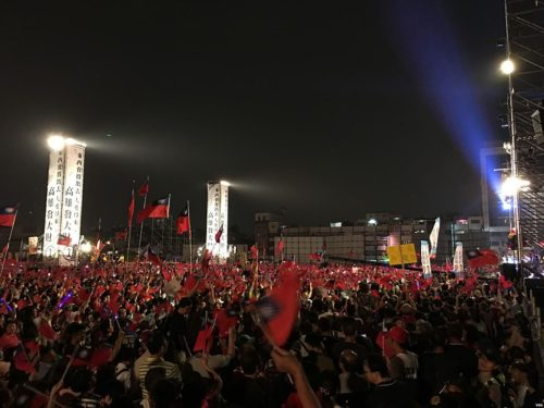 Han Kuo-yu's campaign rally in the evening of Fengshan, Kaohsiung, 17 November 2018.