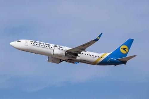 Ukraine International Airlines Flight 752 UR-PSR (B738) at Ben Gurion Airport