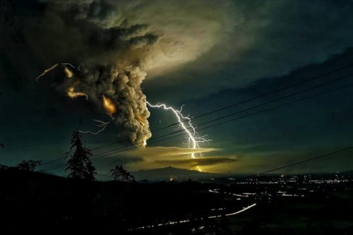 Taal Volcano Lightning Strike during eruption