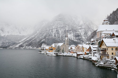 Hallstatt in the snow