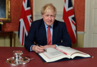 Prime Minister Boris Johnson signs the Withdrawal Agreement with the European Union