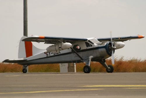 De Havilland Canada DHC-2 Beaver Mk1 plane, used for spraying pesticides for Desert Locust Control for Eastern Africa, Addis Ababa, Ethiopia, 2004