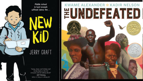 Covers of Newbery and Caldecott Award winners for 2020.