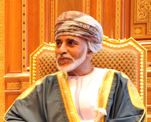 Sultan of Oman Qaboos bin Said Al Said in Muscat, Oman, on May 21, 2013