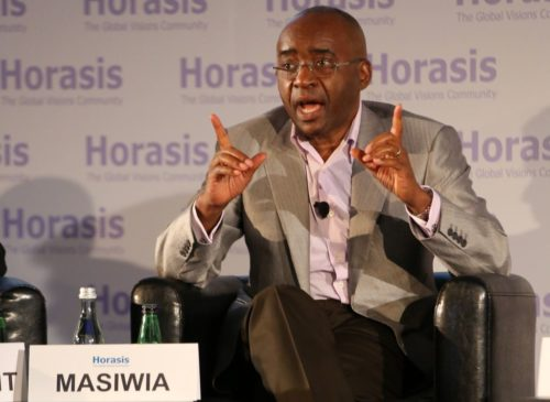 Billionaire Strive Masiyiwa, shown above in 2017, has brought an end to the strike by offering to pay the doctors around $300 a month.
