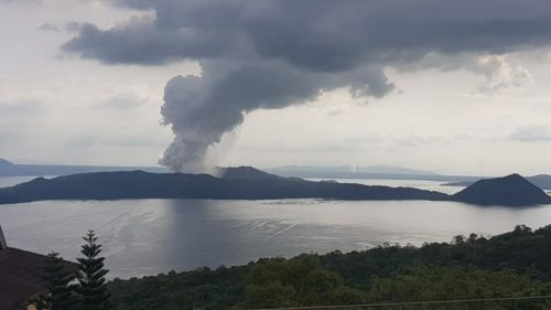 Phreatic volcano explosion of Taal Volcano, 12 January 2020