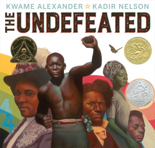 Cover of The Undefeated by Kwame Alexander, illustrated by Kadir Nelson.