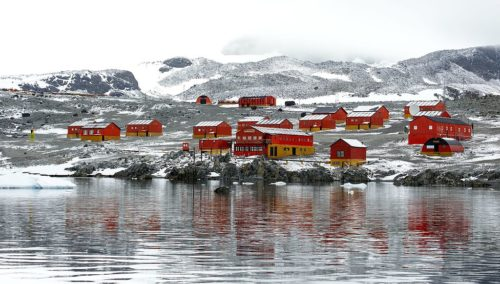 Esperanza Station, Hope Bay, Trinity Peninsula, on the northernmost tip of the Antarctic Peninsula