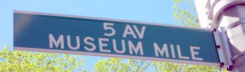 Museum Mile Street sign in New York City