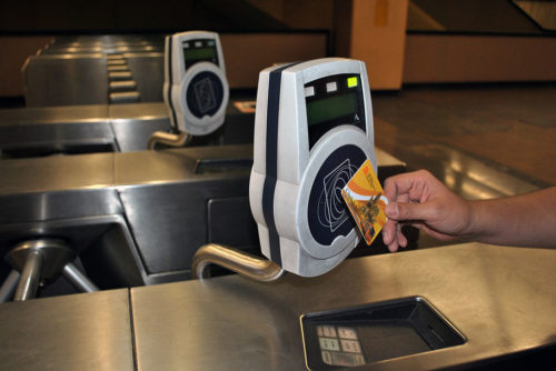 RFID smartcard used for paying Mexico City Metro