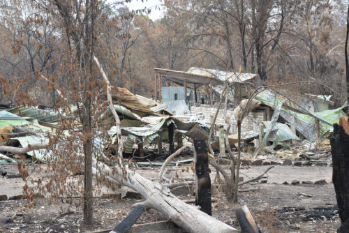 Destruction at Sarsfield from Australia's bushfires, January 16, 2020