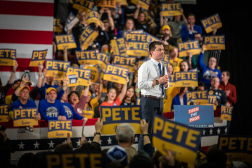 Pete Buttigieg Rally at Lincoln High School