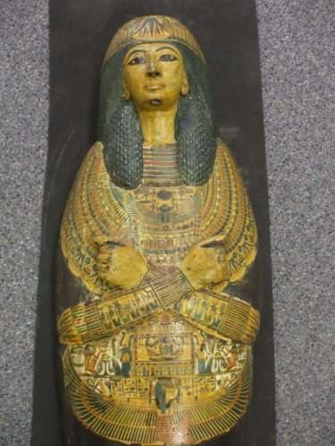 Part of the coffin of Nesyamun. He was an ancient Egyptian priest.