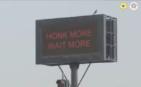 'Honk More, Wait More' sign used in connection with the 'Punishing Signal' by Mumbai Police.