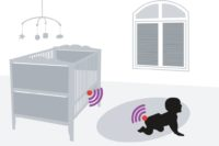 Illustration of MIT's Smart Diaper based on RFID tags.