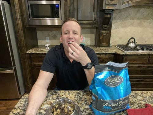 Mitch Felderhoff ate dog food made by his company for 30 days.
