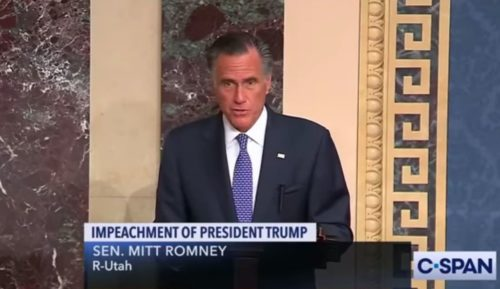 Senator Mitt Romney to vote to convict President Trump on Abuse of Power
