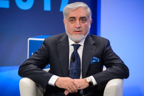 Dr. Abdullah Abdullah, Chief Executive of the Government of the Islamic Republic of Afghanistan, speaks during one of the Halifax Chats of the 2017 Halifax International Security Forum.