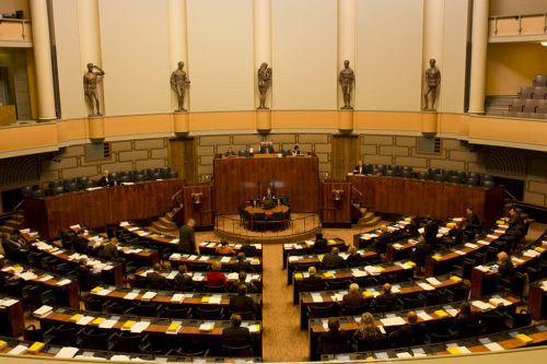 Session Hall of Parliament of Finland