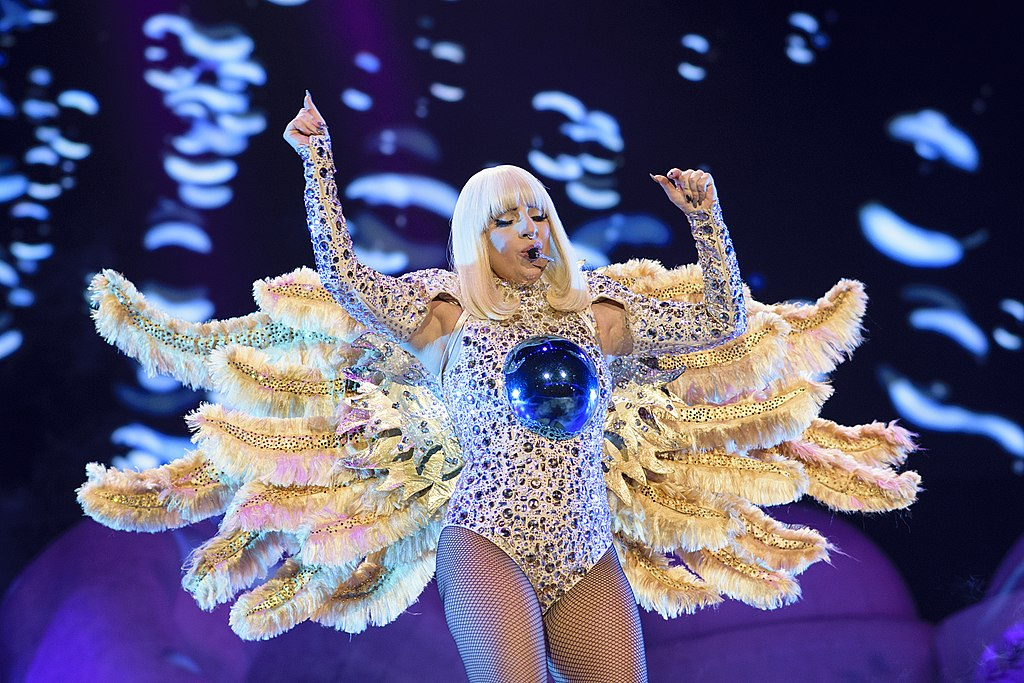 """Lady Gaga performing """"Artpop"""" during her Artpop Ball tour at the O2, in London"""