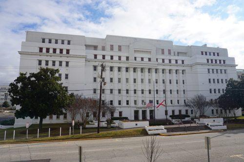 The Alabama State House in Montgomery, Alabama (United States).