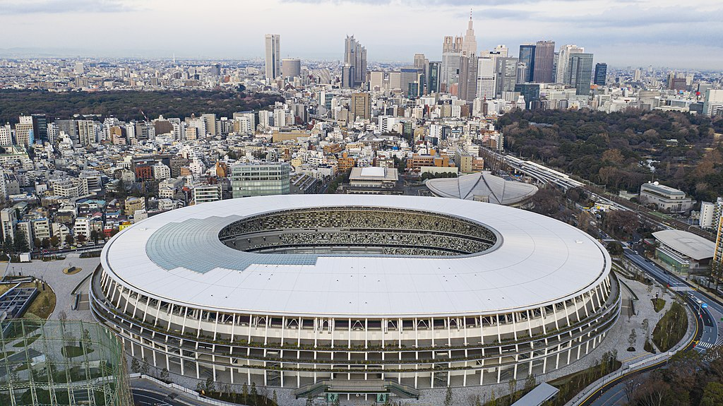 Aerial view of Japan National Stadion, Tokyo