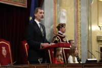 King Felipe VI chairs the opening session of the 14th Cortes Generales.