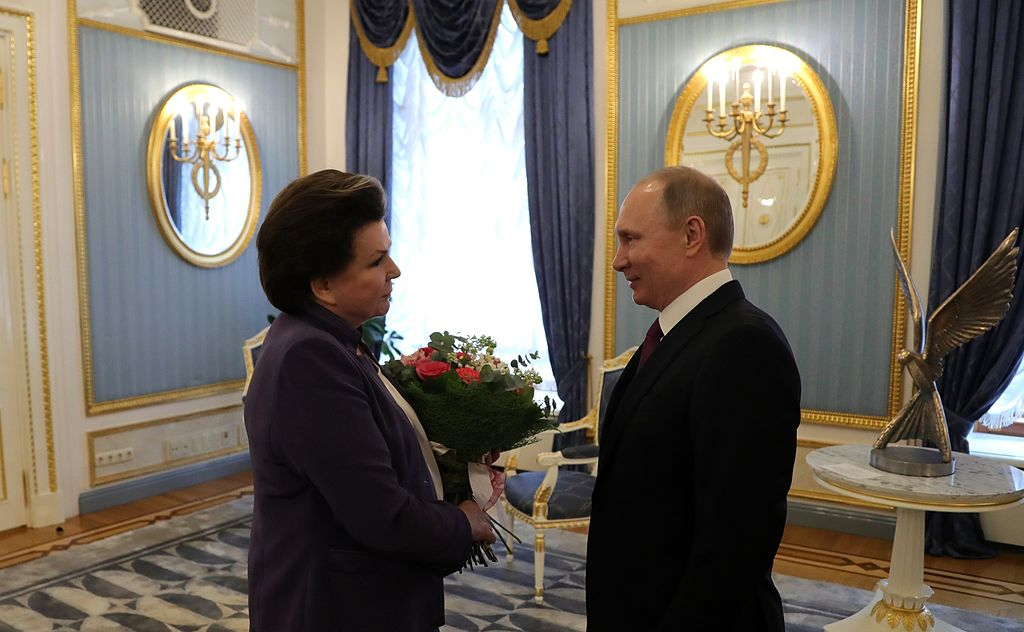 Valentina Tereshkova and Vladimir Putin (2017-03-06)