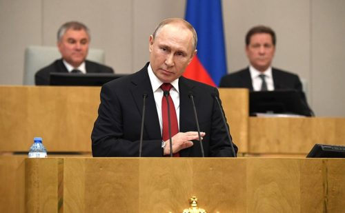 Vladimir Putin Speech at State Duma plenary session 2020-03-10