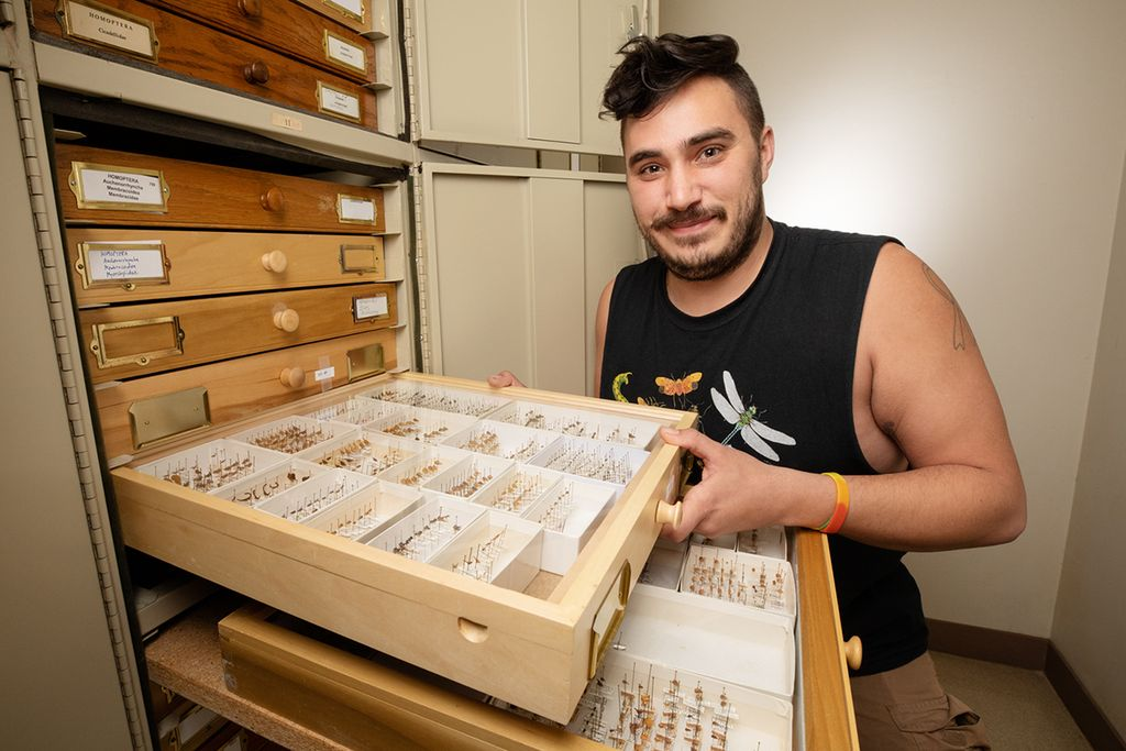 Brendan Morris - doctoral student in entomology.