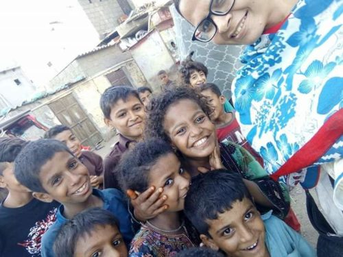 Children smiling in Pakistan