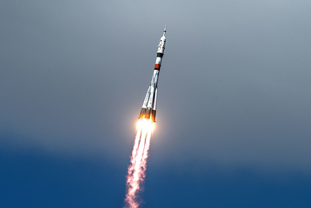 Expedition 63 Launch - The Soyuz MS-16 lifts off from Site 31 at the Baikonur Cosmodrome in Kazakhstan Thursday, April 9, 2020