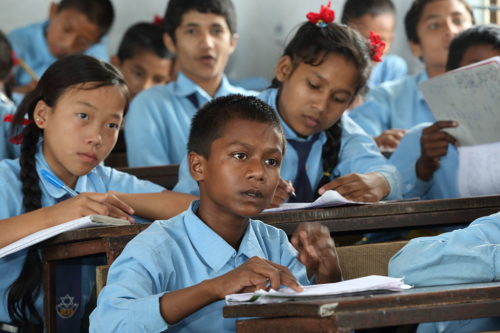 Student studies in grade 6 at Shree Dharmasthali Lower Secondary School, Pokhara, Nepal. Photo by Jim Holmes for AusAID