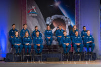 The 2017 Class of Astronauts participate in graduation ceremonies at the Johnson Space Center in Houston, Texas.